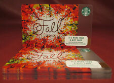 Lot of 58 Starbucks, 2017 Fall Red Foil Gift Cards New Unused
