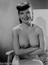 1960s Mature Brunette Sitting with Huge Breasts in folded arms 8 x 10 Photograph