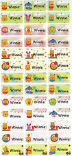 Personalized Waterproof Name labels stickers, 36 Pooh Medium , day care, school,