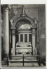 vecchia cartolina di firenze basilica di santa croce tomba di carlo marsuppini