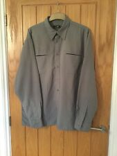 Peter Werth Size 4 Khaki Green Shirt Outdoor Loose Fit Casual Smart Baggy Hike