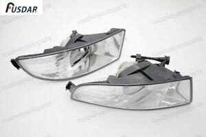 1Pair Clear Front Driving Bumper Fog Light Lamps for Skoda Octavia 2009-2012