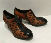 L'Artiste Spring Step Arabella Brown Leather Ankle Boots Daisy Size US 9.5 EU 40
