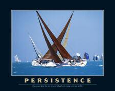 Sailing PERSISTENCE Motivational Inspirational Office Wall POSTER Print