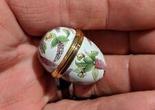 Vintage Halcyon Days Enamel Egg Box Bee & Wisteria Flower