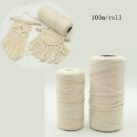100/% Natural Cotton Macrame Rope for Making Macrame Wall Hangings 4mm Macrame Cord Cotton Key Chains Grey 167 Yard roll or 500 Feet of Single Strand Macrame Cotton Cord Plant Hangers More