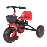 Kids Tricycle Bike Toddler Outdoor Folding Trike Adjustable Seat Red Outdoor Toy
