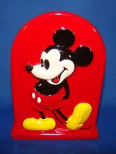 MICKEY MOUSE RED HIGH RELIEF TOOTHBRUSH HOLDER - GREAT CONDITION!