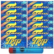 Trip2 Cellulose Clear Rolling Papers Mini Size (12 Packs) with RPD Doob Tube
