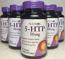 5x 5-HTP, Natrol, Promotes Positive Mood & Weight Loss 45 capsules, 50 mg 05/17