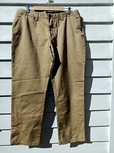 "RB Sellars New Mens Twill Trouser Short Leg 102S 40"" Wheat Aberdeen Pants Khaki"