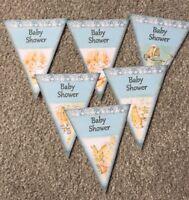 Baby Shower Peter Rabbit Bunting/banner decoration Blue/boy