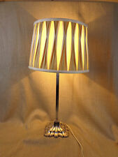 Antique Corinthian Column Table Lamp Base Silver Plated Elkington & Co Victorian