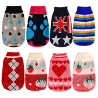 Pet Dog Cat Knitted Jumper Sweater Warm Coat Jacket Puppy Clothes Winter Costume