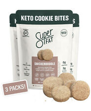 SuperFat Cookies Keto Paleo Snack Low Carb Food Cookies, Snickerdoodle 3 Pack