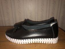 Bernie Mev. TW50 Black Slip On Sneakers Loafers Shoes 8