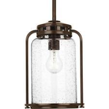 Progress Lighting Botta 1-Light 7.75 in.Outdoor Antique Bronze Hanging Lantern
