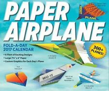 Paper Airplane Fold-A-Day 2017 Day-to-Day Desk Boxed Calendar