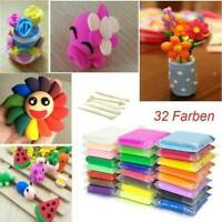 32 Fimo Mixed Color Oven Bake Polymer Soft Clay Modelling Moulding DIY Toys Set
