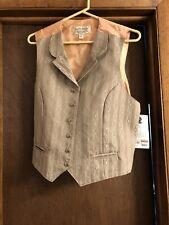 Women's Wah Maker Vintage Collection Beige Vest Peach Lining Old West Costume Xl