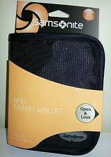 Samsonite RFID Identity Theft Protection Passport Travel Wallet - Black