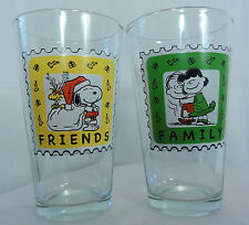 2012 PEANUTS Lucy and Linus glasses and PEANUTS Christmas Friends