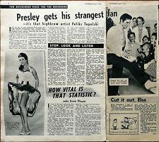More details for elvis presley gets his strangest fan artist feliks topolski vintage article 1957