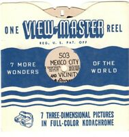 Vintage View-Master MEXICO CITY and VICINITY Single Reel #503