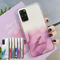 For Samsung S20 FE 5G Note 20 Ultra S21 Plus Case Marble Clear Shockproof Cover