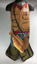 Vtg 1987 Novelty Fisherman Grilling Apron Detachable Salamander Fish W/ Hot Mitt