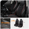 Fashion PU Leather Red+Black Car Front Two Seat Covers Bucket Protector For Suv