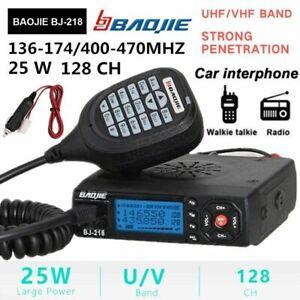BJ-218 128 CH Car Mobile VHF/ UHF Dual-Band FM Radio Transceiver Walkie Talkie