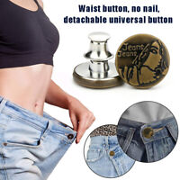 Button Pins Snap Fastener Metal Buttons for Clothing Jeans Perfect Fit Adjust ON