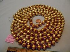 "Christmas Garland Mercury Glass Antique Gold 93"" Long 1/2"" Beads Ap20 Vintage"