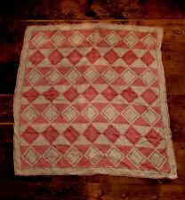 Vintage Vera Neumann Scarf - Geometric Pattern - Pure Silk - Handrolled - Scarve