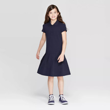 "Girls' Pleated Uniform Tennis Dress - Cat & Jackâ""¢ Navy"