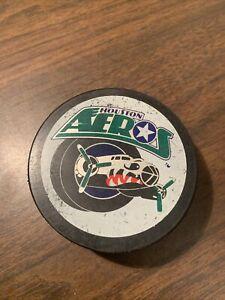 HOUSTON AEROS minor league hockey puck ~ International Hockey League IHL
