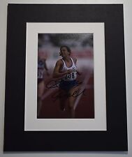 Sally Gunnell Signed Autograph 10x8 photo display Olympics  Track & Field COA