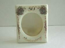 Lefton 50th Anniversary Picture Frame - Self-Standing - Decorated With Bells