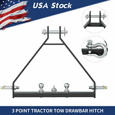 3 Point 2 Hitch Receiver Cat 1 Trailer Tow Drawbar Quick Hitch Imatch Tractor