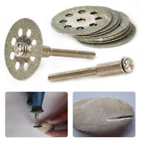 22mm Diamond Cut Off Wheel Disc + 3mm Mandrel Grinding Tool Fits Rotary