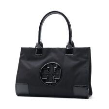 Brand New Black TORY BURCH Ella Tote Mini Handbag Authentic Nylon/Patent Leather