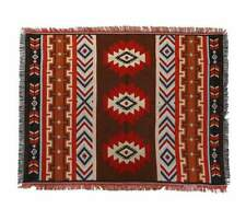 S-XL Cream Brown Indian Tribal Cotton Rug Throw Blanket Tapestry Picnic Aztec