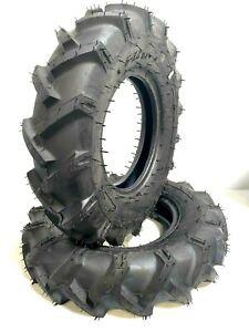 SET OF TWO 6-12 6X12 Fits KUBOTA B7510 R 1 Bar Lug Tubeless Tractor Climb Tires