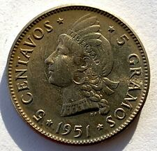 DOMINICAN REPUBLIC 5 CENTAVOS 1951 - HIGH GRADE