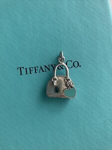 Tiffany & Co Retired Purse Handbag Charm with enamel heart