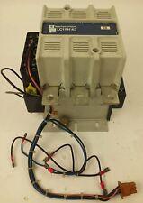 TELEMECANIQUE LC1FH43, CONTACTOR, 3PH, 600V, 150HP, 200A, W/ LA1F221, LC1, USED