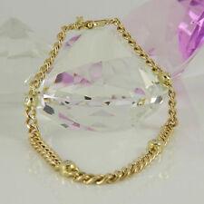 Diamant Echtschmuck-Armbänder im Kette-Stil aus Gelbgold