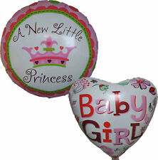 2PCS IT IS BABY GIRL A NEW PRINCESS BALLOON BABY SHOWER CHRISTENING DAY GIFT