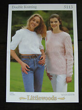 """Littlewoods Knitting Pattern: Ladies Cabled Sweaters, DK, 28-40"""", 5113"""